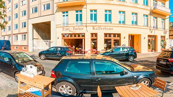 Startseite Zimt und Zucker Berlin Friedrichstraße Panorama Außenansicht