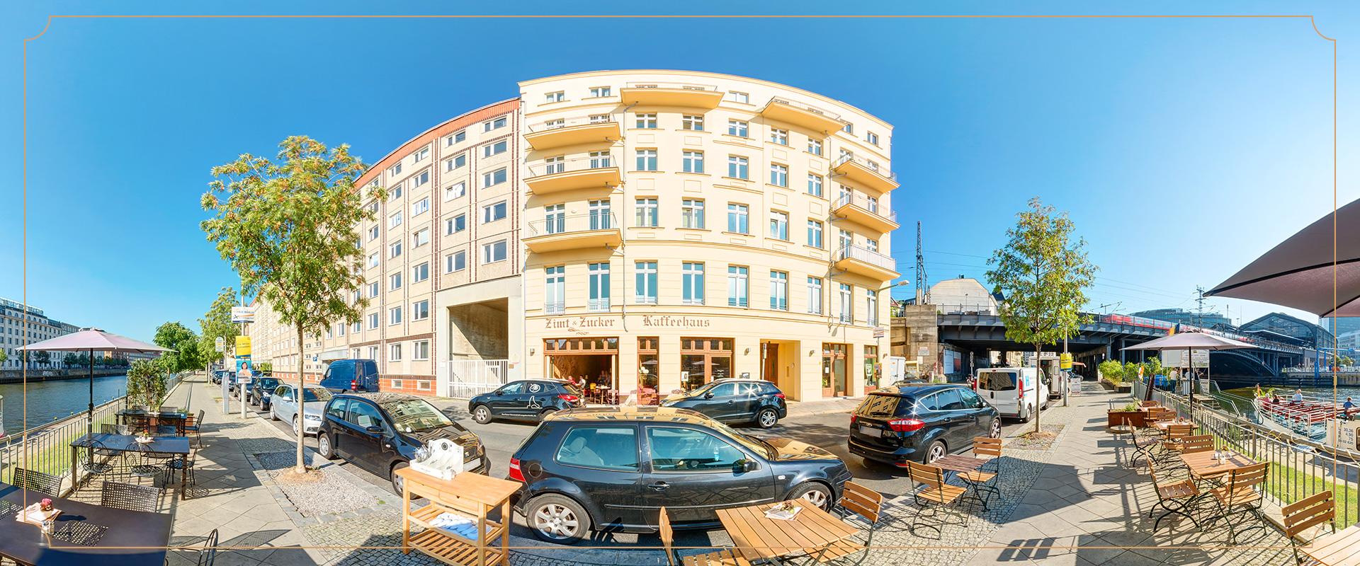 Kontakt Zimt und Zucker Berlin Friedrichstraße Panorama Außenansicht